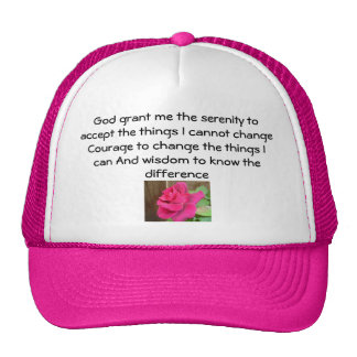 Serenity Prayer Hats