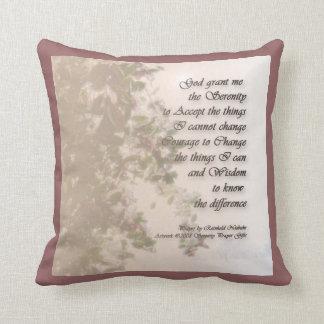 Serenity Prayer Holly American MoJo Pillow