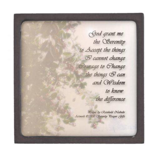 Serenity Prayer Holly & Snow Premium Gift Box