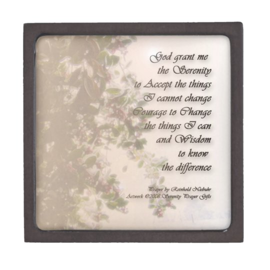 Serenity Prayer Holly & Snow Premium Gift Box