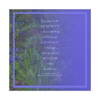 Serenity Prayer Hyacinth Wrapped Canvas