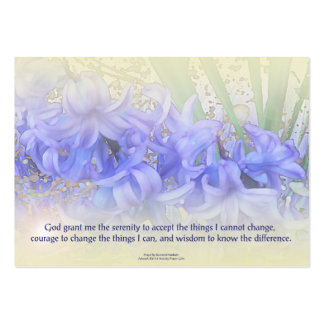 Serenity Prayer Hyacinths Large Business Cards (Pack Of 100)