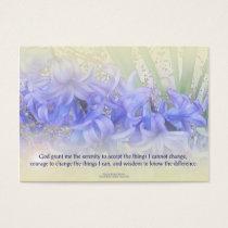 Serenity Prayer Hyacinths Business Card