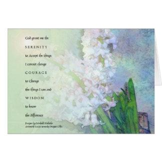 Serenity Prayer Hyacinths Card