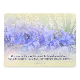Serenity Prayer Hyacinths Custom Invitation