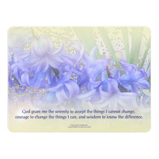 Serenity Prayer Hyacinths 6.5x8.75 Paper Invitation Card
