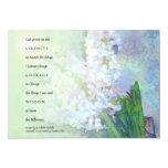 "Serenity Prayer Hyacinths Invitation 5"" X 7"" Invitation Card"
