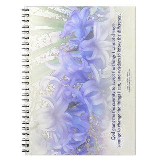 Serenity Prayer Hyacinths Notebook