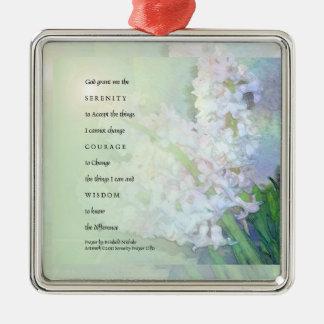 Serenity Prayer Hyacinths Ornament