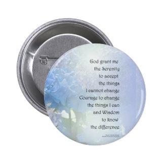 Serenity Prayer Hydrangeas Pinback Button
