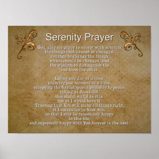 Wild image inside serenity prayer printable
