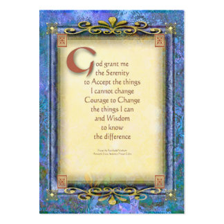 Serenity Prayer Illuminated 3 Business Card Templates