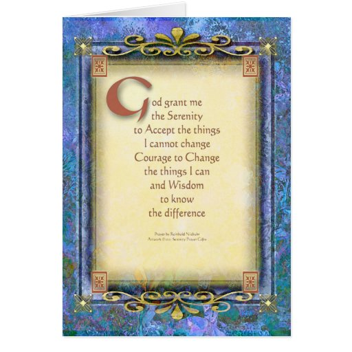Serenity Prayer Illuminated 3 Card