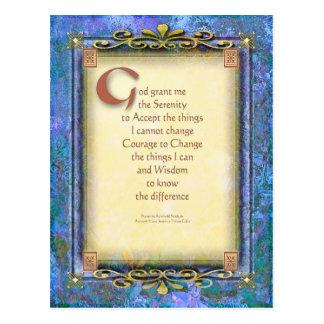 Serenity Prayer Illuminated 3 Postcard