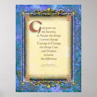Serenity Prayer Illuminated 3 Posters