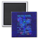 Serenity Prayer in Blue 2 Inch Square Magnet