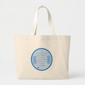 Serenity Prayer In Blue Jumbo Tote Bag