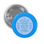 Serenity Prayer In Blue Button