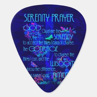 Serenity Prayer in Blue Guitar Pick