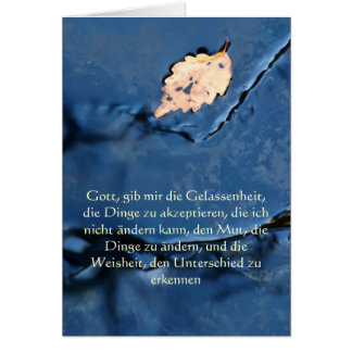 Serenity Prayer in German, Peaceful Waters Card