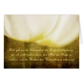 Serenity Prayer in German with Tulips Card