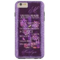 Serenity Prayer in Lavender Tough iPhone 6 Plus Case
