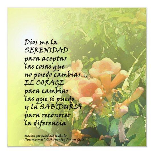 Serenity Prayer in Spanish Invitation