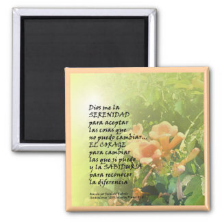 Serenity Prayer in Spanish Magnet