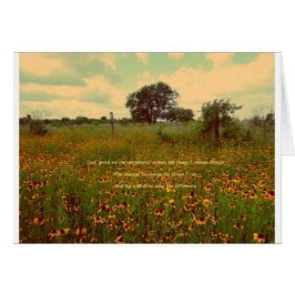 Serenity Prayer in Wildflowers Greeting Cards