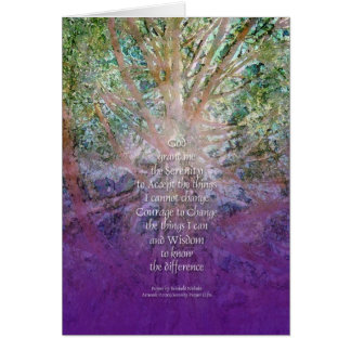 Serenity Prayer Incense Cedar Card