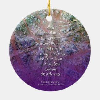 Serenity Prayer Incense Cedar Ceramic Ornament