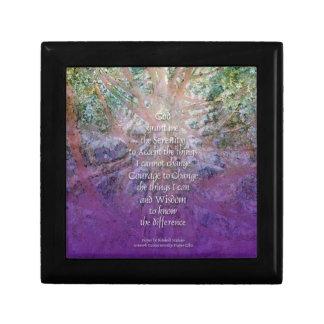 Serenity Prayer Incense Cedar Gift Box