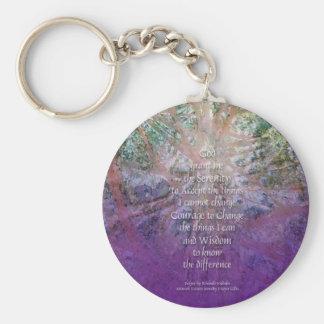 Serenity Prayer Incense Cedar Keychains