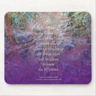 Serenity Prayer Incense Cedar Mouse Pad