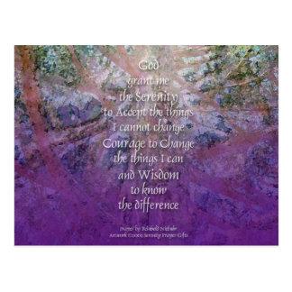Serenity Prayer Incense Cedar Postcard