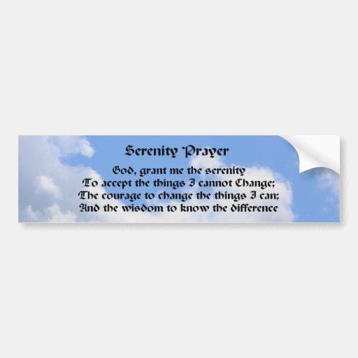 Serenity Prayer Inspirational Bumper Sticker #3
