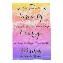 Serenity Prayer Inspirational Kitchen Towel