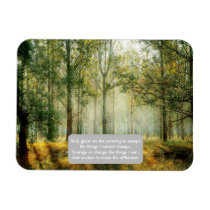 Serenity Prayer Inspirational Quote Forest Autumn Magnet