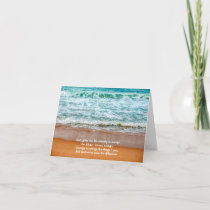 Serenity Prayer Inspirational Quote Ocean Waves Card
