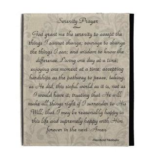 Serenity Prayer iPad Folio iPad Case