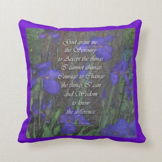 Serenity Prayer Iris American MoJo Pillow