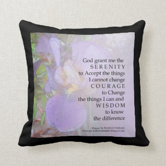 Serenity Prayer Iris Blend American MoJo Pillow
