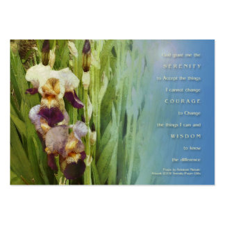 Serenity Prayer Iris Garden Large Business Cards (Pack Of 100)
