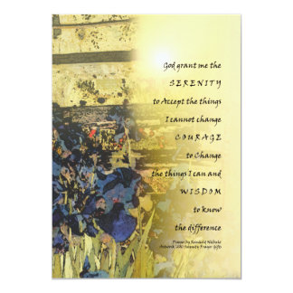 Serenity Prayer Irises and Fence 5x7 Paper Invitation Card