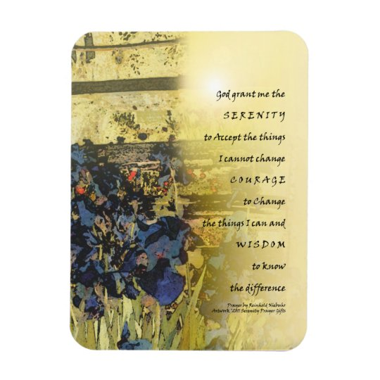Serenity Prayer Irises and Fence Magnet