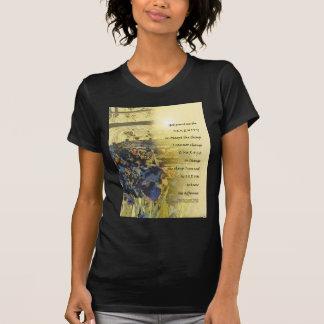 Serenity Prayer Irises and Fence T Shirt