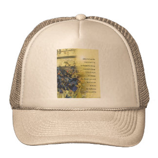 Serenity Prayer Irises and Fence Trucker Hats