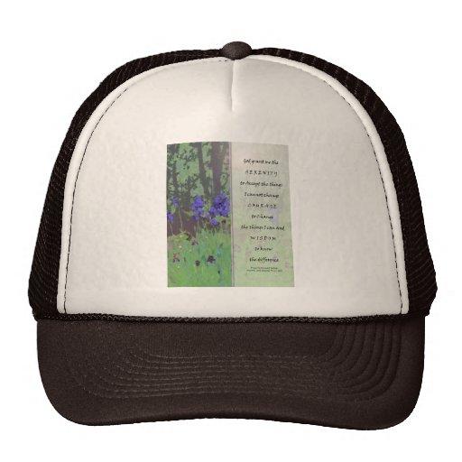 Serenity Prayer Irises and Trees Trucker Hat