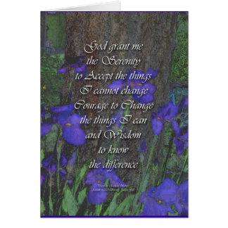 Serenity Prayer Irises Card