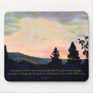 Serenity Prayer July Sky Sunrise Mouse Pad